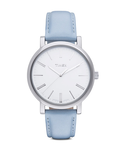 Quarzuhr Originals Easy Reader T2P165 TIMEX blau,silber,weiß 753048444625