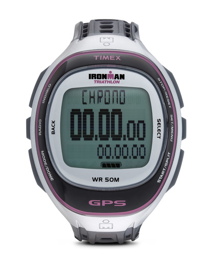 Digitaluhr Ironman Run Trainer GPS T5K630 TIMEX grau 753048465651