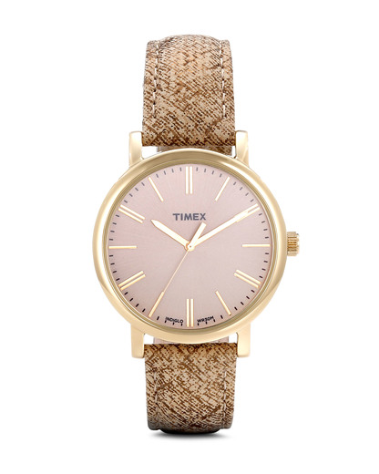 Quarzuhr Timex Originals T2P173 TIMEX beige,gold 753048481095