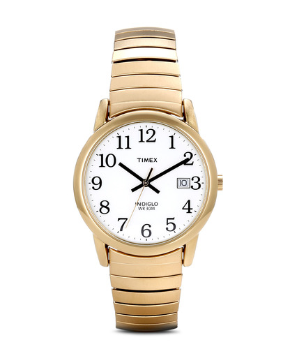 Quarzuhr Timex Easy Reader T2H301 TIMEX gold,weiß 753048185641