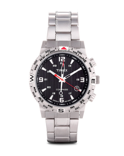 Chronograph Timex Adventure Series Compass mit Intelligent Quartz Technologie T2P289 TIMEX schwarz,silber 753048507177