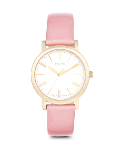Quarzuhr Originals Classic in Rosa T2P332 TIMEX gold,rosa,weiß 753048507443