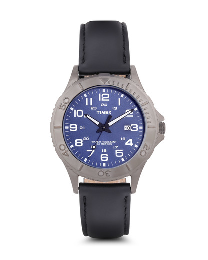 Quarzuhr Men's Dress T2P392 TIMEX blau,grau,schwarz 753048508372
