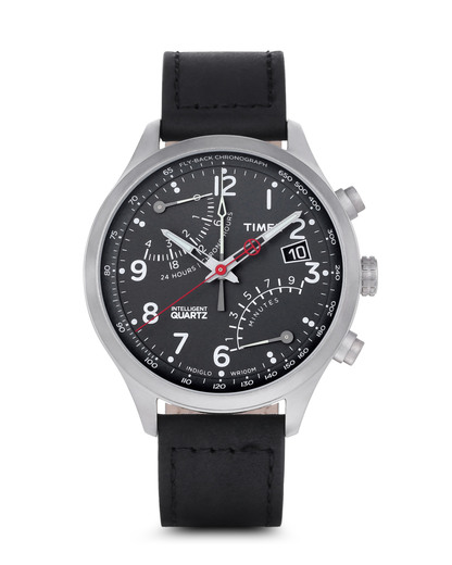 Chronograph Fly Back Silber T2P509 TIMEX schwarz,silber 753048525140