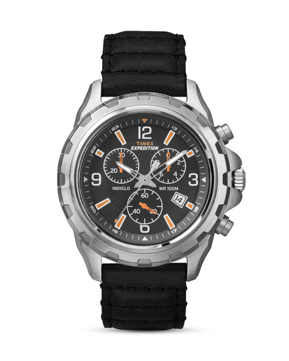 Chronograph Expedition T49985 TIMEX schwarz,silber 753048526888