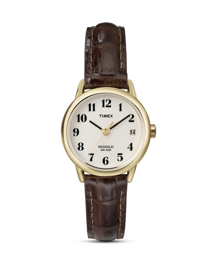 Quarzuhr Easy Reader T20071 TIMEX braun,gold,weiß 753048193738