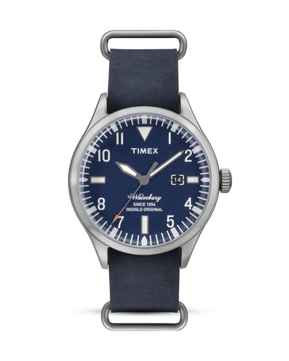 Quarzuhr The Waterbury TW2P64500 TIMEX blau,silber 753048562985