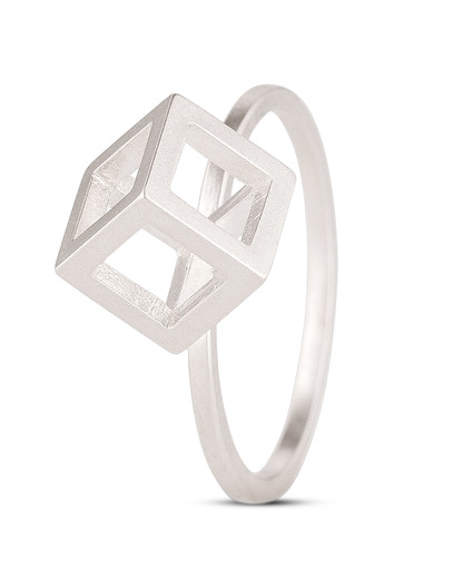 Ring Cube Basic Forms 925 Sterling Silber Unikke Design