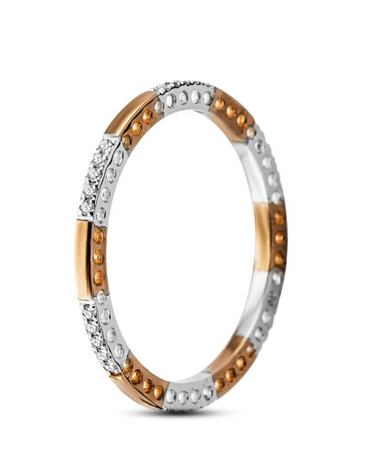 Ring aus 375 Bicolor-Gold mit 0.09 Karat Diamanten VALERIA
