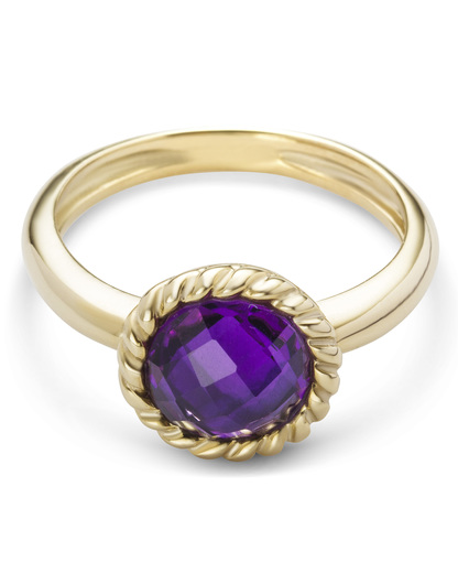 Ring aus 375 Gold  VALERIA gold,violett Quarz