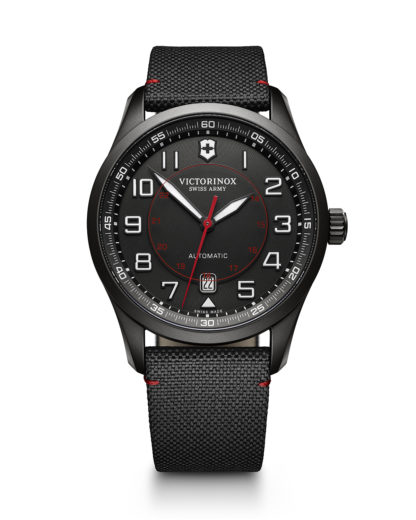 Schweizer Automatikuhr Airboss Mechanical Black Edition 241720 VICTORINOX SWISS ARMY schwarz 7630000720221