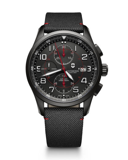 Schweizer Automatikchronograph Airboss Mechanical Black Edition 241721 VICTORINOX SWISS ARMY schwarz 7630000720214