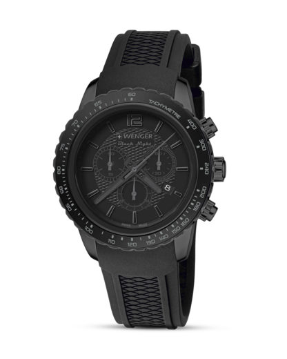 Schweizer Chronograph Roadster Black Night Full Black 01.0853.111 Wenger schwarz 7630000725349