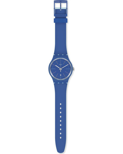 Swatch Herren-Uhren Analog Quarz Swatch blau 7610522822450